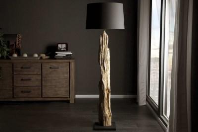 Luxusní stojanová lampa Stump černá