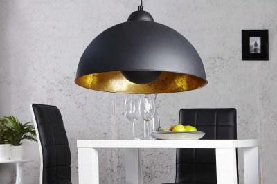Designová závěsná lampa Atelier černo-zlatá