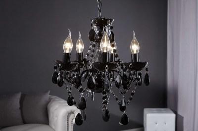 Luxusní krystalový lustr Barisimo S černý