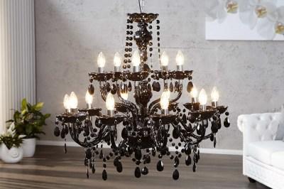 Luxusní krystalový lustr Barisimo XL černý