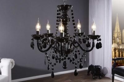 Luxusní krystalový lustr Barisimo černý