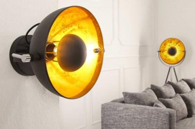 Nástěnná lampa STAGE černo zlatá