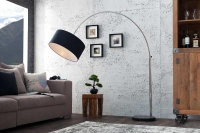 Designová stojanová lampa Arch černá