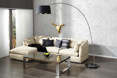 Designová stojanová lampa SHAPE černo zlatá