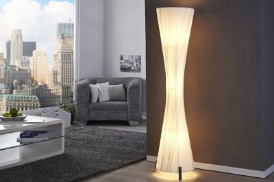 Designová stojanová lampa SPIRAL bílá