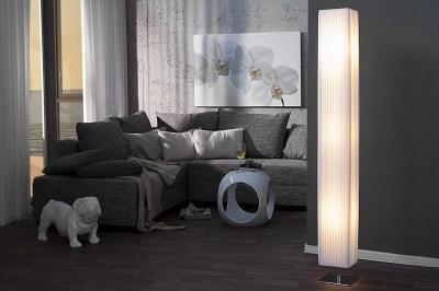 Designová stojanová lampa HILON BÍLÁ 160cm