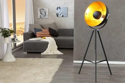 Designová stojanová lampa STAGE černo zlatá