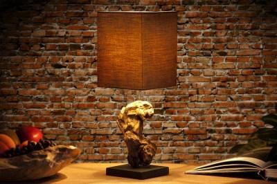 Designová stolní lampa REST hnědá