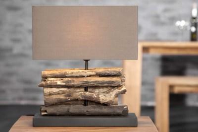 Designová stolní lampa FERRE hnědá