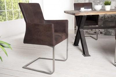 Luxusní jídelná židle Bull Vintage hnědá