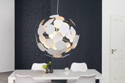 Designová závěsná lampa Sunshine bílá