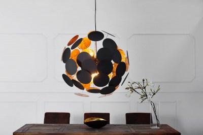 Designová závěsná lampa Sunshine černá