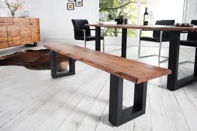 Luxusní lavice Evolution 160 z masívního dubového dřeva180cm