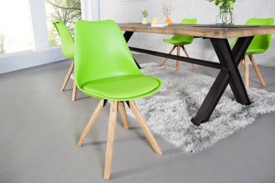 Dizajnová jídelná židle Sweden NewLook limetková zelená