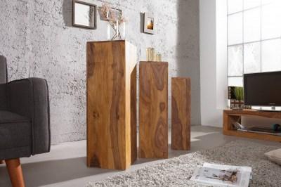 Luxusní set 3 stojanu Timber Honey
