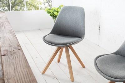 Dizajnová jídelná židle Sweden NewLook II šedá
