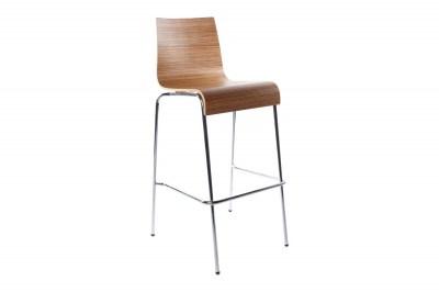Moderní barová židle Aiden zebrano
