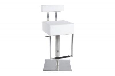 Moderní barová židle James bílá