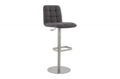 Moderní barová židle Nathan šedá