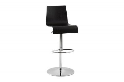 Moderní barová židle Cameron černá matná