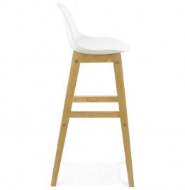 Moderná barová stolička Evan biela