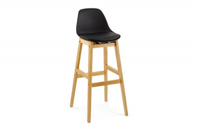 Moderní barová židle Evan černá