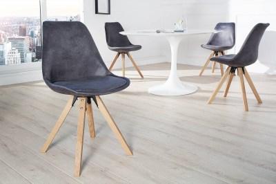 Dizajnová jídelná židle Sweden NewLook antracit
