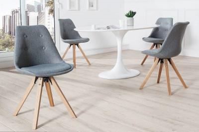 Dizajnová jídelná židle Sweden NewLook III šedá