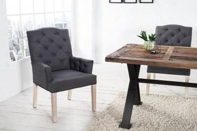 Luxusní židle Queen antracit