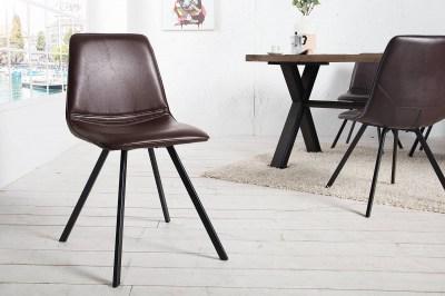 Dizajnová jídelná židle Holland Retro hnědá