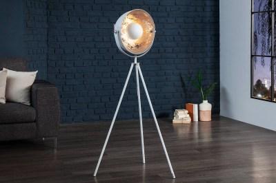 Designová stojanová lampa Atelier 140cm bílo-stříbrná