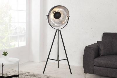 Designová stojanová lampa Atelier 160cm černo-stříbrná