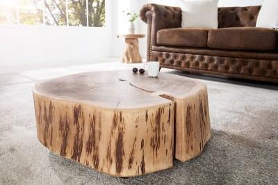 Luxusní konferenční stolek z masívu Island II Circle z akátového dřeva
