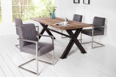 Luxusní židle Boss Vintage šedá