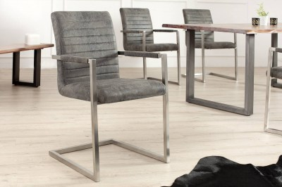 Luxusní jjídelná židle Imperium Antik šedá