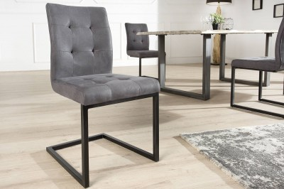 Jídelná židle vintage English šedá