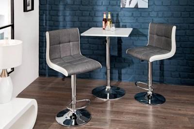 Designová barová židle Modern šedobílá