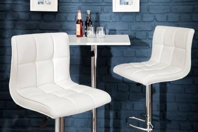 Designová barová židle Modern bílá