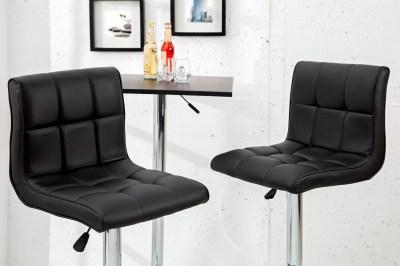 Designová barová židle Modern černá