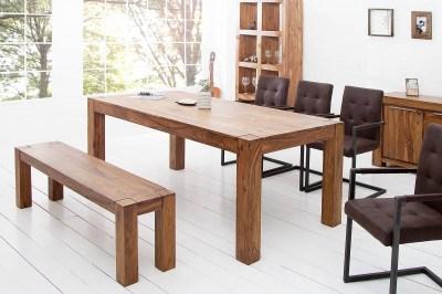 Masívní dřevěná lavice Timber 140cm