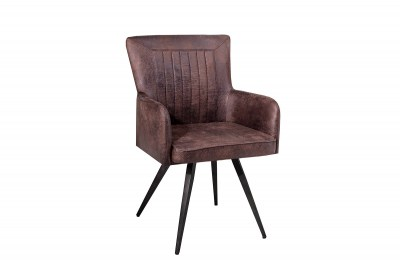Dizajnová židle Adda hnědá