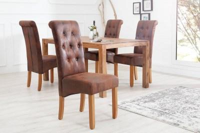 Luxusní jídelná židle Clemente whisky hnědá