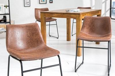 Designová židle Alba hnědá