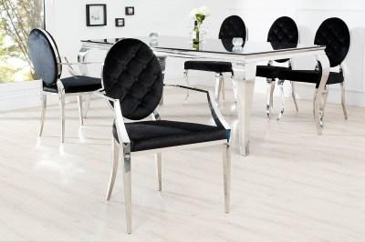 Designová židle Rococo s opěradlem
