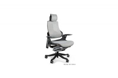 Kancelářská židle Wanda černý podklad síťová modrá