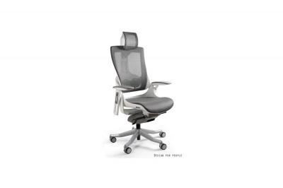 Kancelářská židle Wanda II - síťová bílý podklad olivová
