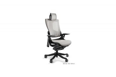 Kancelárska stolička Wanda II - tkanina čierny podklad modrá