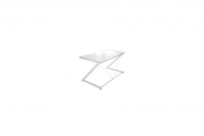 Dizajnový stůl Brik chromovaný bílá