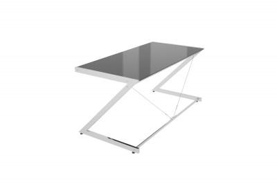 Dizajnový stůl Prest chromovaný černá