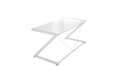 Dizajnový stůl Prest chromovaný bílá